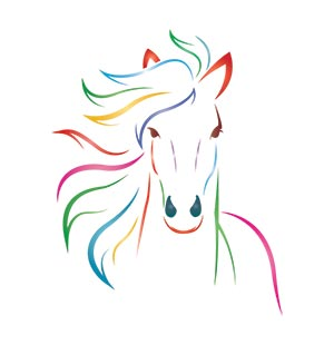 Colorful Horse Graphic Panel